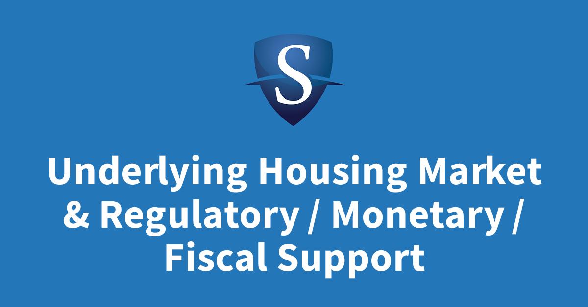 Underlying Housing Market and Regulatory/Monetary/ Fiscal Support